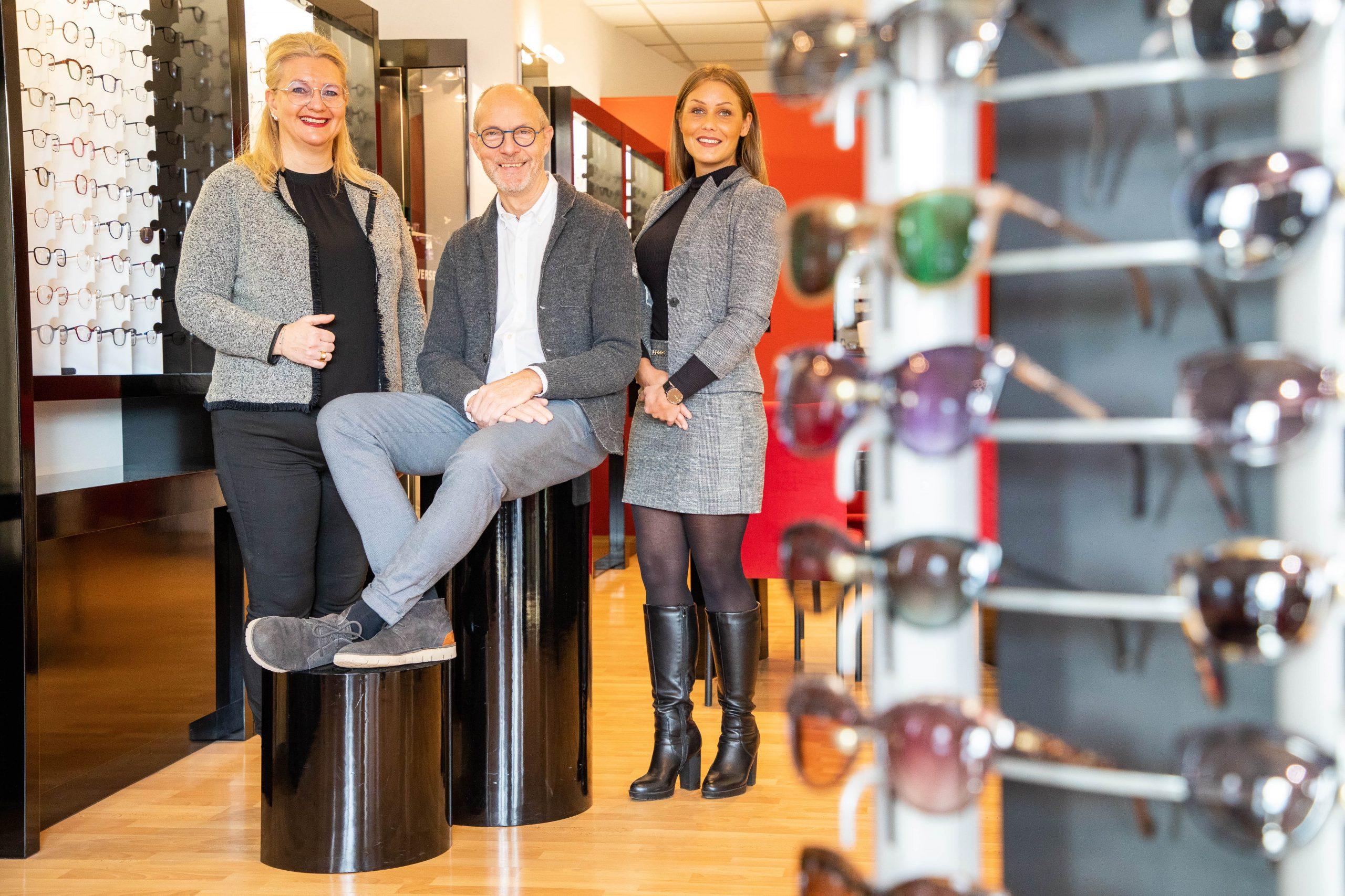 Team des Fachgeschäftes DIE BRILLE Augenoptik GmbH Velbert